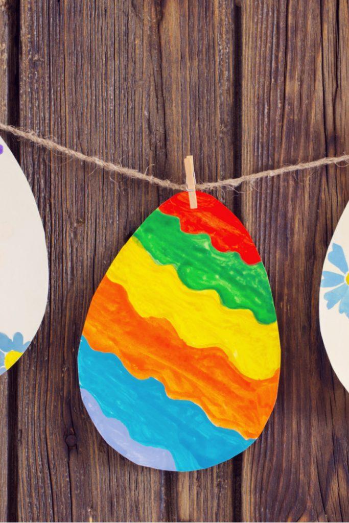Make an Easter Egg Garland Craft with Preschoolers - Kids Activities Blog