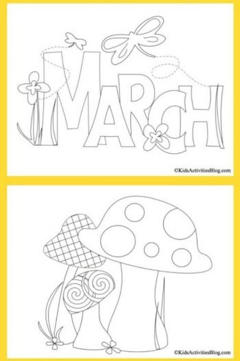 March Coloring pages - Kids Activities Blog