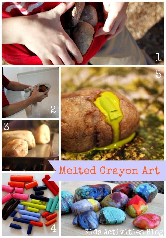 Melted Crayon Art Steps