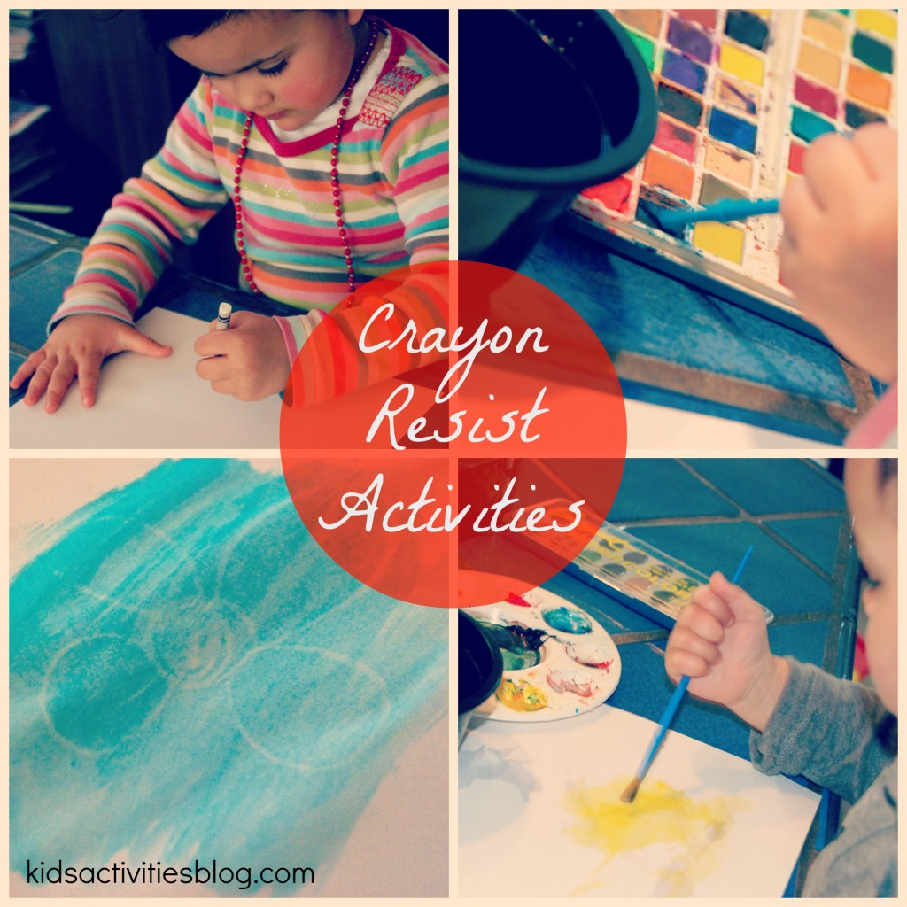 Crayon Resist {White Crayon Secret Art}