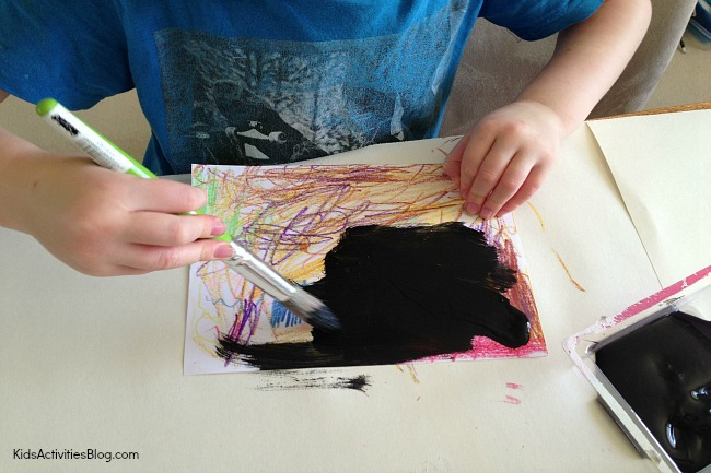 Crayon Art: Kids can learn how to scratch art with wax crayons and poster paint
