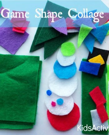 Math games for Preschoolers: Counting game to make a collage