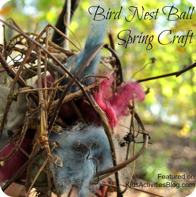Bird Nest Ball, Spring Craft