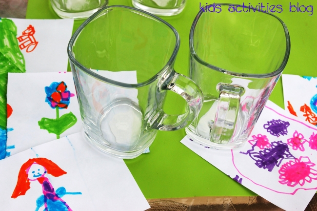 Kids art is adorable when using a sharpie on a mug {It's dishwasher safe!}