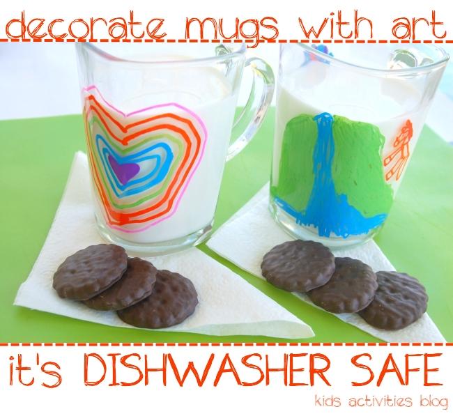 Try a Sharpie on a Mug! {Dishwasher Safe Kids Art}