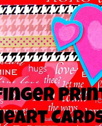 Heart art for kids makes for a special finger print art project