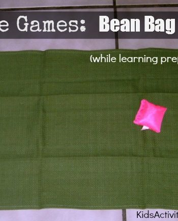 Simple games like this adapted bean bag toss can be a great boredom buster for kids