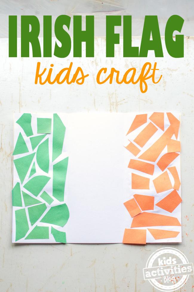 kids irish flag craft