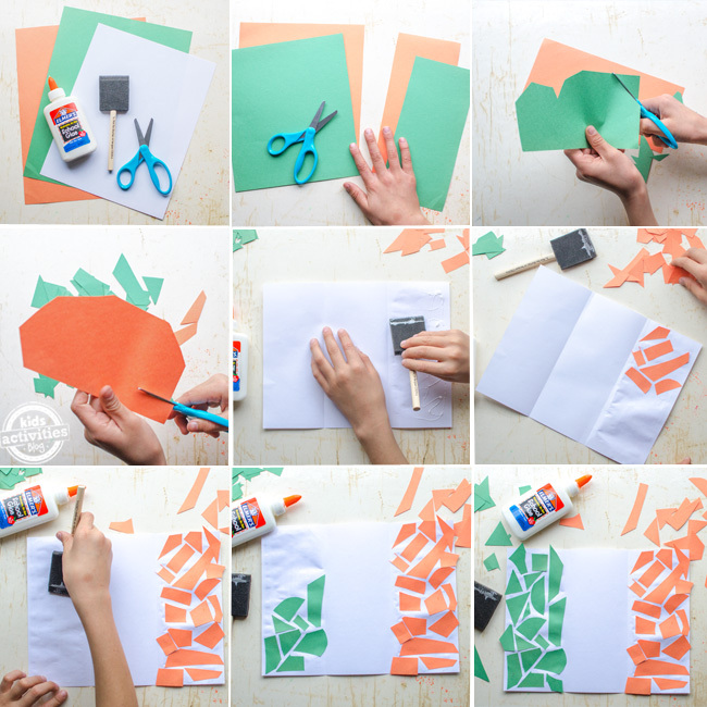 kids irish flag craft steps from start to end pictured in 9 pictures