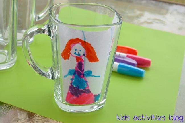 Dishwasher Safe Kids Art {Sharpie on a Mug}