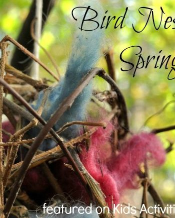 Kids can make a nest ball for the birds {Fun spring craft}