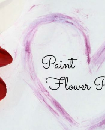 paint with flowers