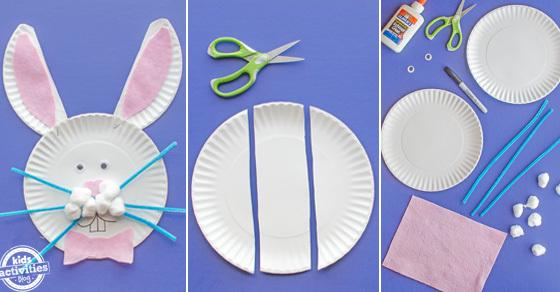 Paper Plate Easter Bunny Craft Kids Activities Blog