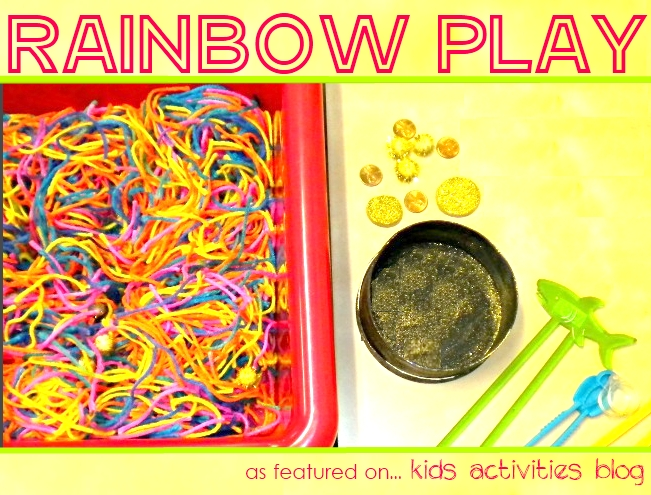 rainbow play: A Saint Patrick's Sensory Tub