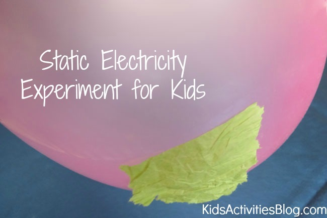 Static Electricity {Fun Balloon Experiment for Kids}