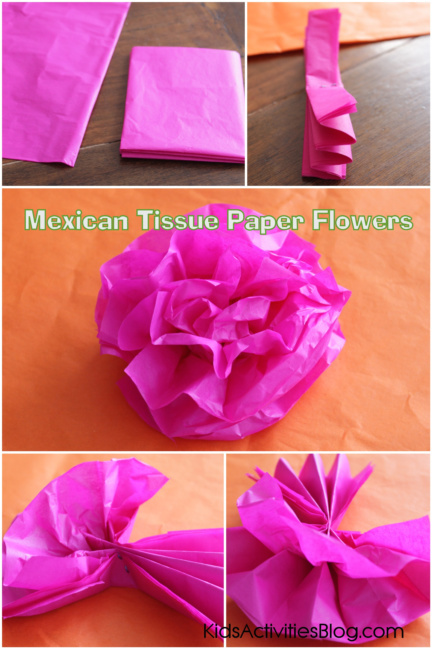 How To Make Tissue Paper Flowers Mexican Paper Flowers