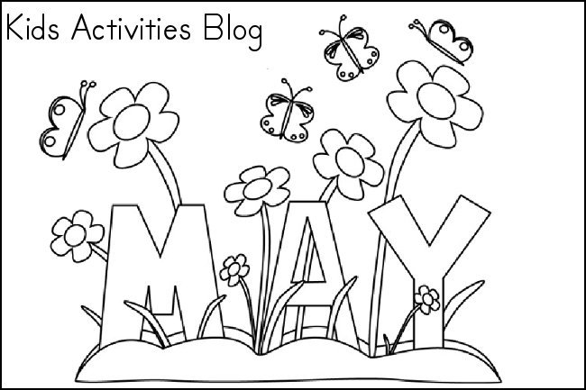 Coloring pages for the month of may free printable for May coloring pages printable