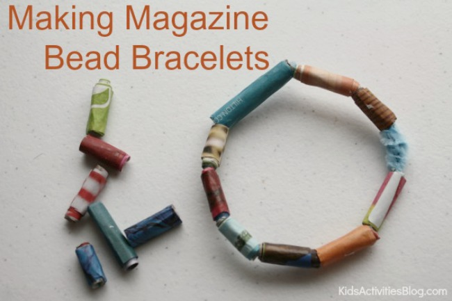 DIY Jewelry: Make Bracelets with Kids {Magazine Recycle}
