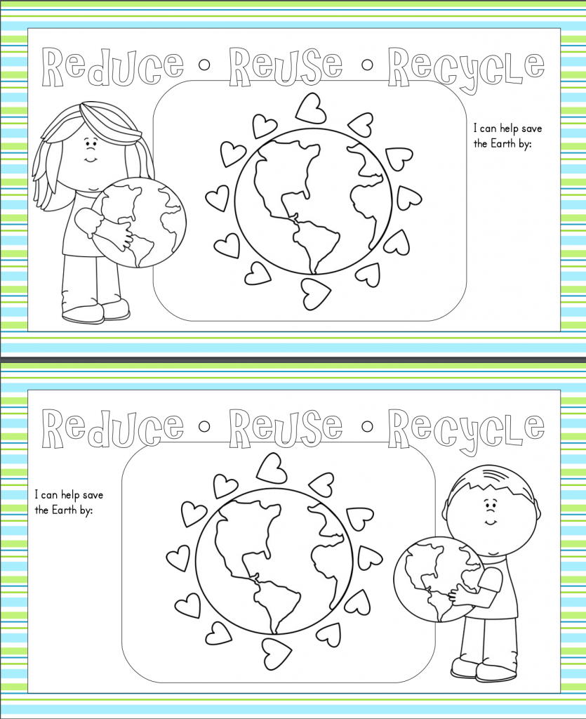 Earth Day Printable Place mats - color