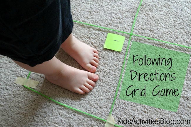 Map Game: Following Directions Grid Game {Map Skills Activities}