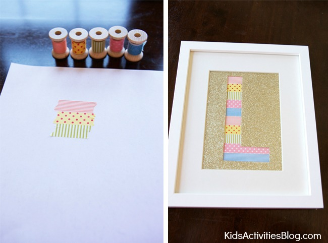 Framed Alphabet Letters {DIY for How to make a Silhouette}