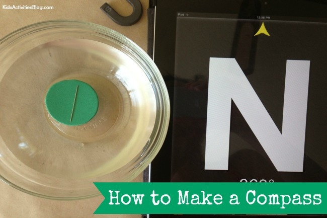 Make a Compass {Simple Magnetic Compass for Kids}