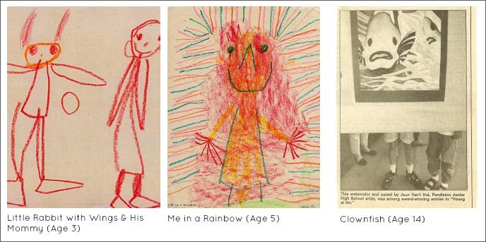 Jean Van't Hul's Childhood art