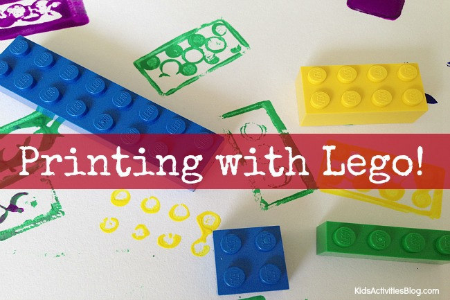 Lego Art for Kids: Colorful Lego Printing for a Cool Lego Activity
