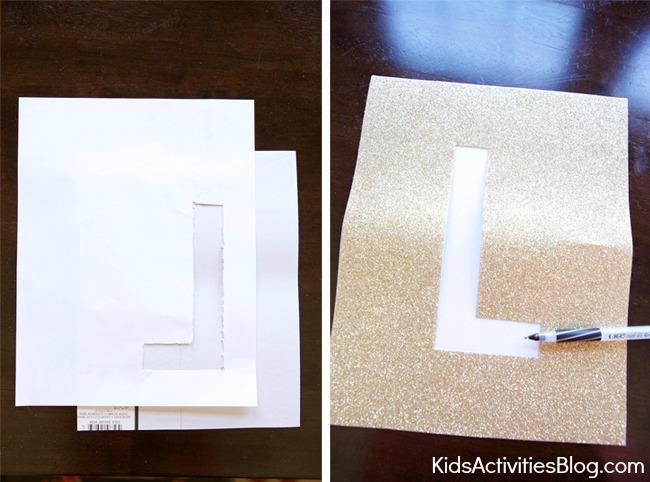 Make Framed Silhouette Alphabet Letters