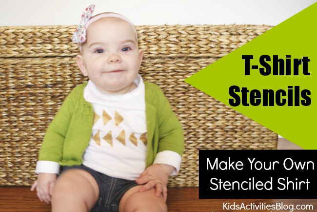 Make Your Own Stenciled Shirt : TShirt stencils for kids