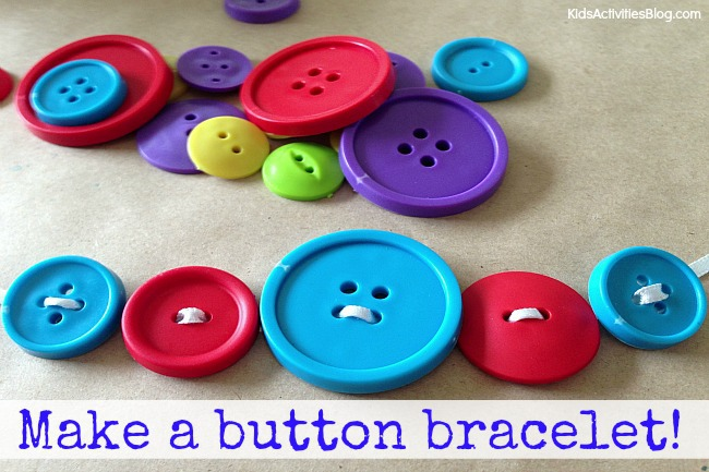 button craft ideas for kids button craft make a button bracelet easy bracelets to make 5976