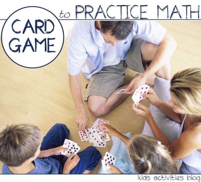 card game to pracice math with kids - snap+1