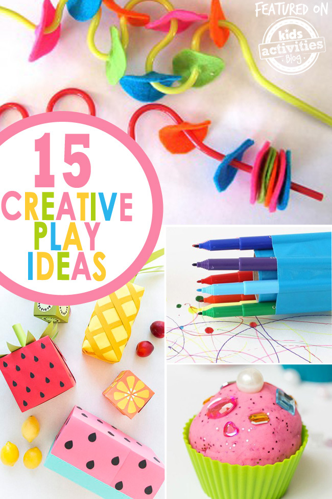 creative play ideas for kids moms text
