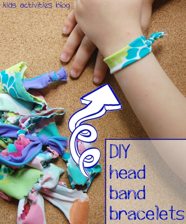 Upcycle kids swimsuits to make girls things: How to make a hairband or bracelet