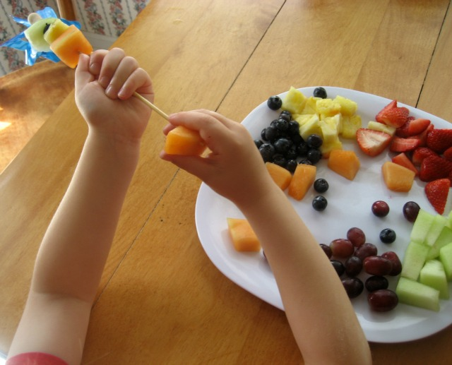 Good Food can be Fun for Kids with Fruit Kabobs