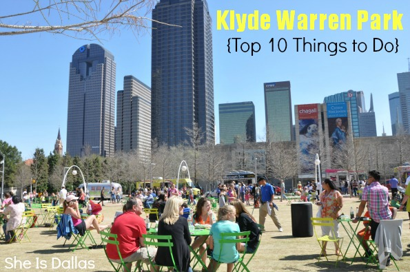 klyde warren park top 10 things to do