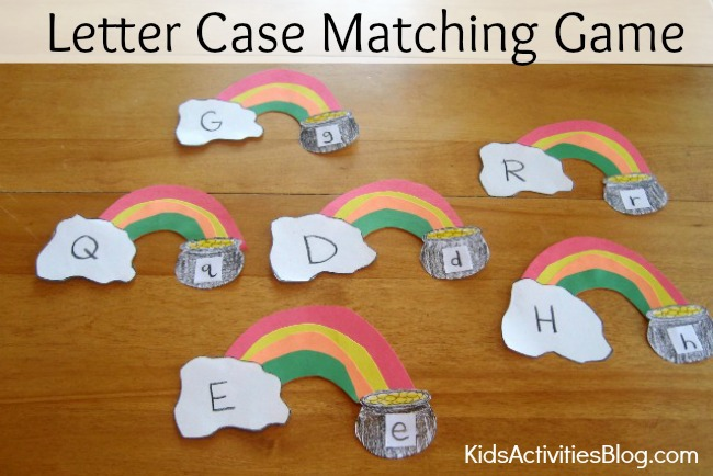 reading game letter case matching game early reading activities