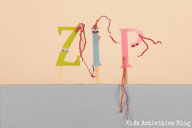letter puppet zip