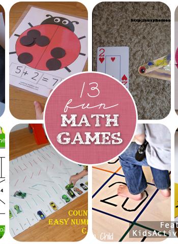 13 Fun Math Games