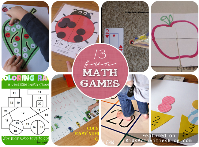 13 Fun Math Games