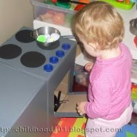 DIY Kid's Kitchen for under $10 – Part 1 by Childhood 101