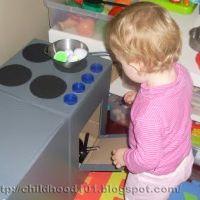 """DIY Kid's Kitchen for under $10 """" Part 1 by Childhood 101"""