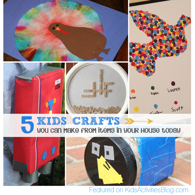 kids crafts you can make from things around your house