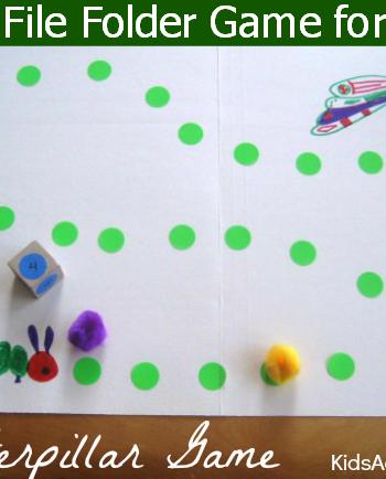 cute file folder game for kids - the caterpillar game