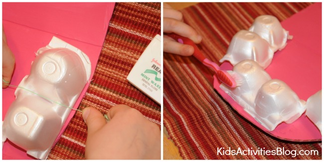 This model mouth is a fun way for kids to learn how to brush your teeth the right way.