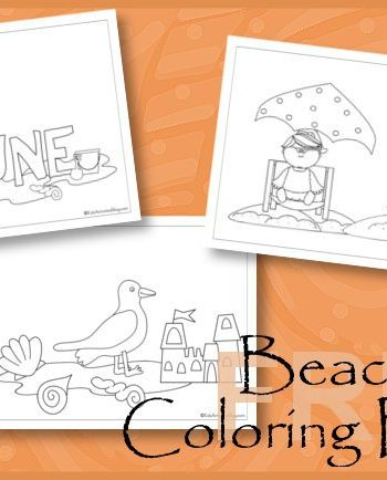 Beach Fun Coloring Pages for Kids