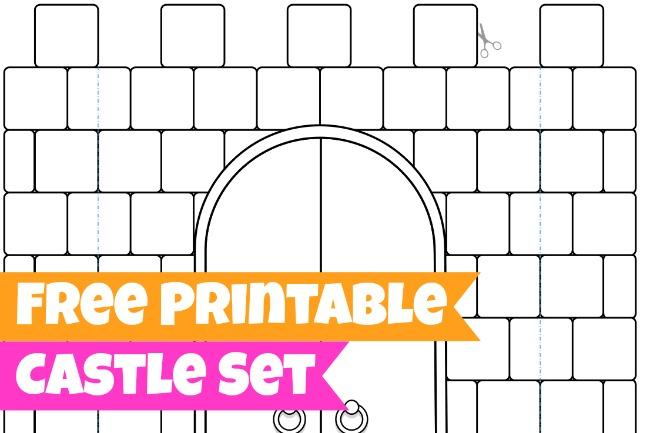 Free Printables for Kids   Castle Set