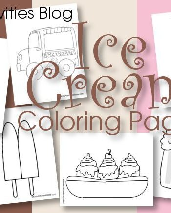 Ice Cream Coloring Pages {Free Printable!}