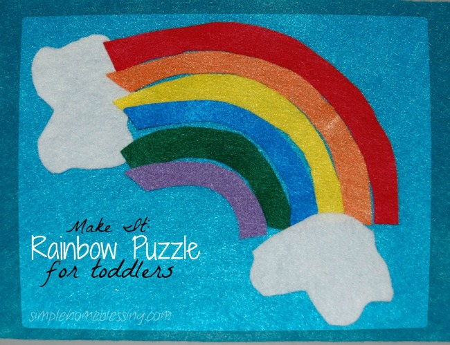 {Best activities for toddlers} Make a rainbow puzzle