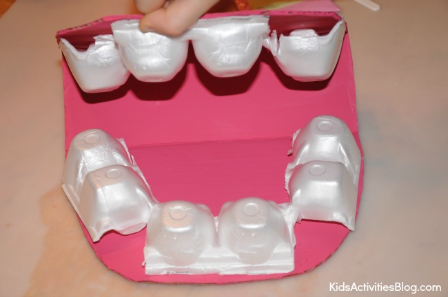 Your teeth are important. Kids can make this model mouth to learn how to brush your teeth properly.